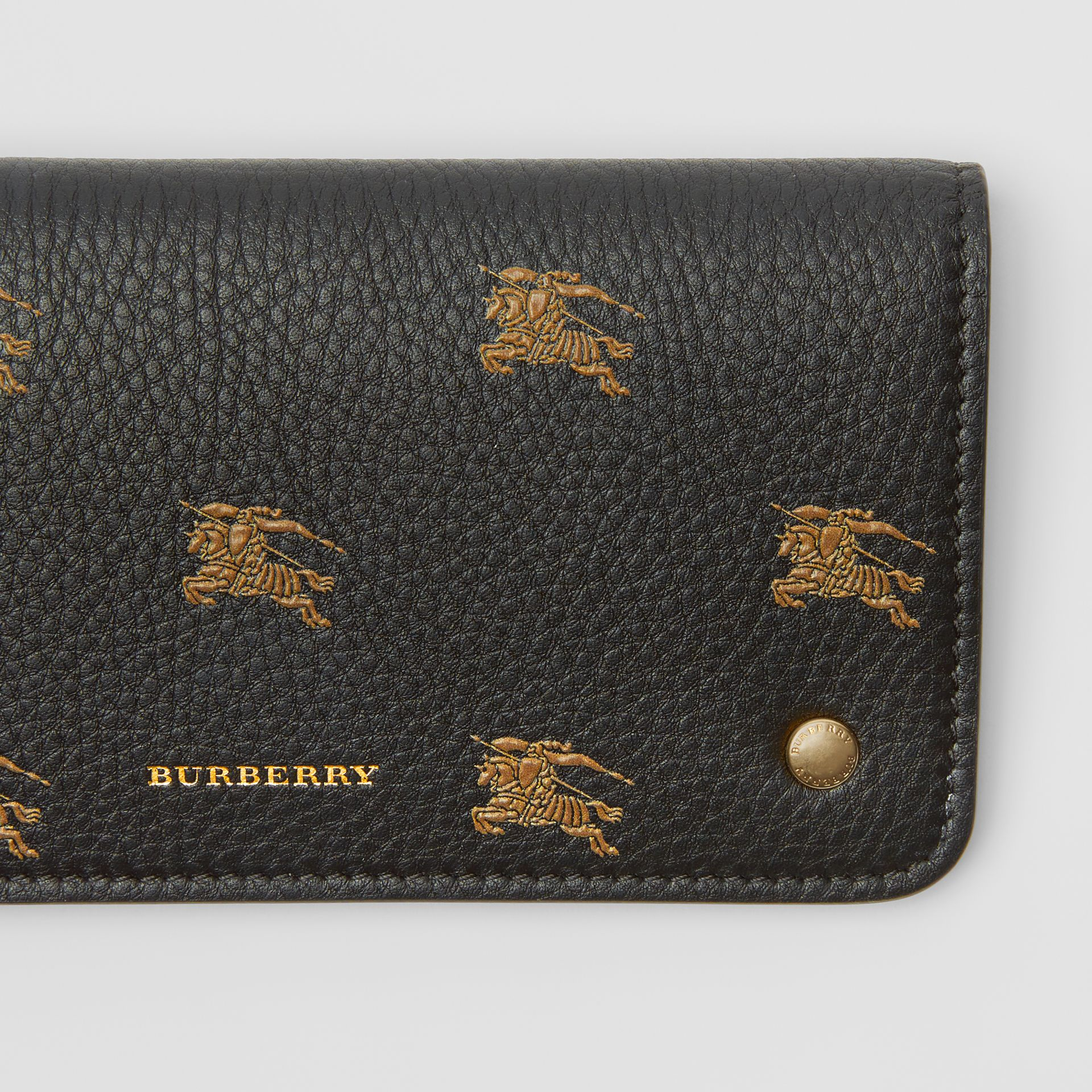 EKD Leather Phone Wallet in Black - Women | Burberry Australia - gallery image 1