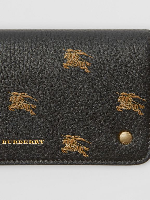 EKD Leather Phone Wallet in Black - Women | Burberry Australia - cell image 1