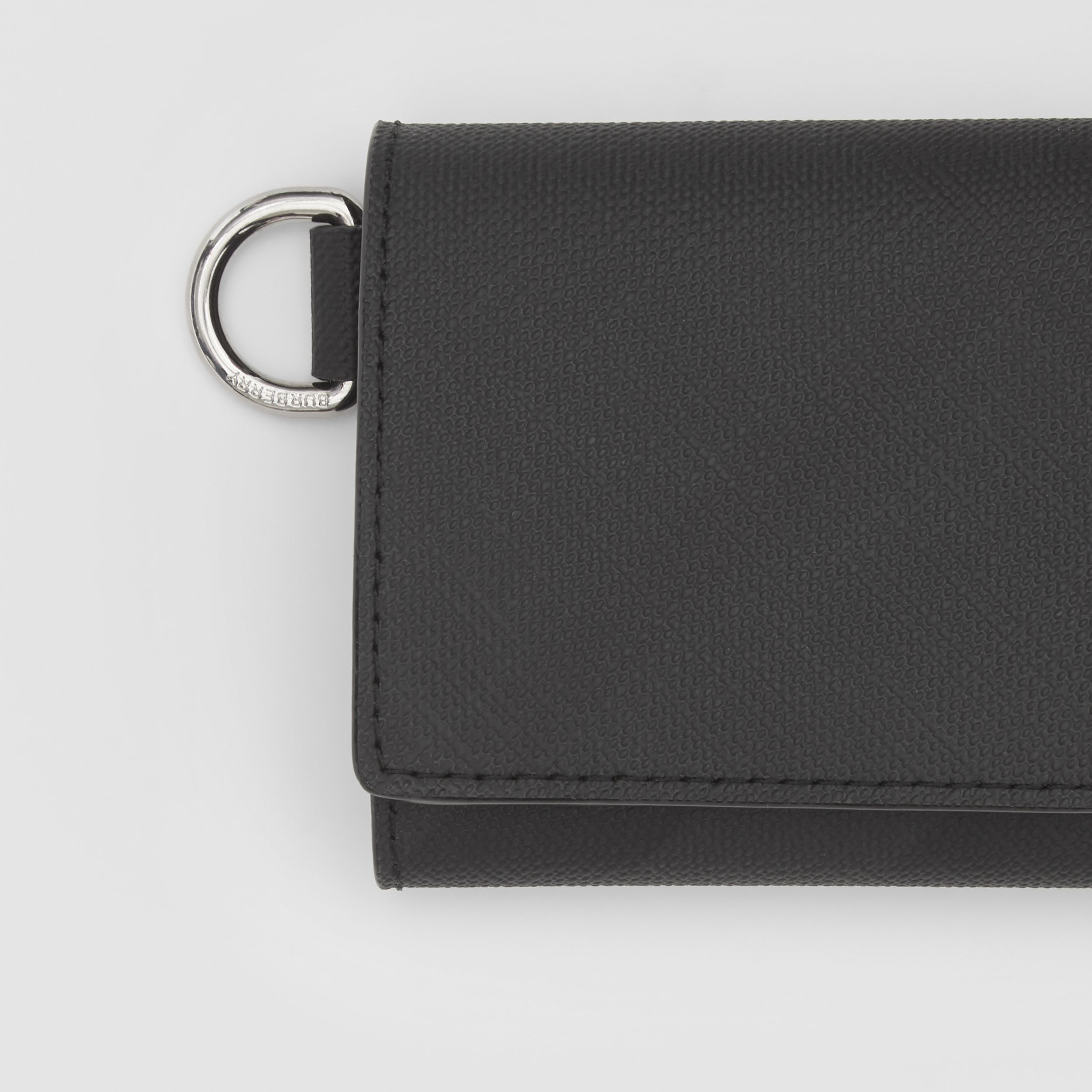 Small London Check Folding Wallet in Dark Charcoal - Men | Burberry - 2