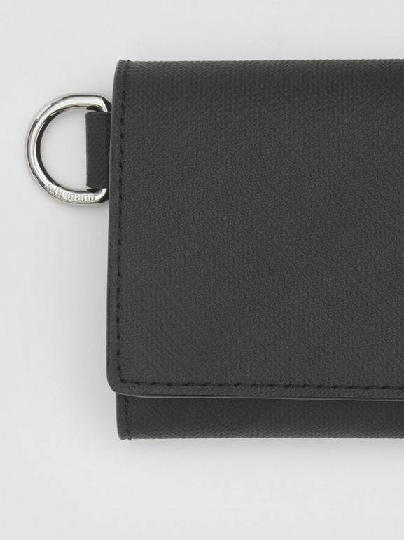 Small London Check Folding Wallet in Dark Charcoal - Men | Burberry United Kingdom - cell image 1