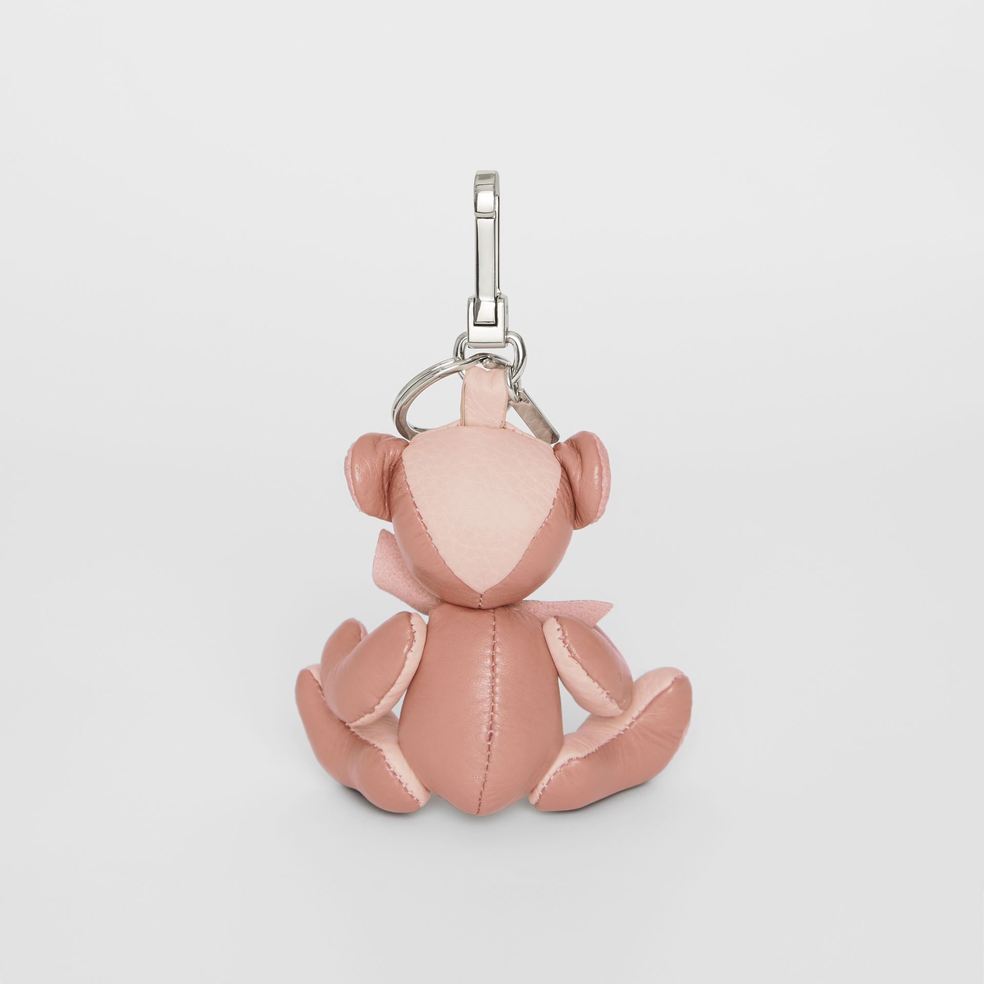 Thomas Bear Charm in Leather in Copper Pink/chalk Pink - Women | Burberry - gallery image 3