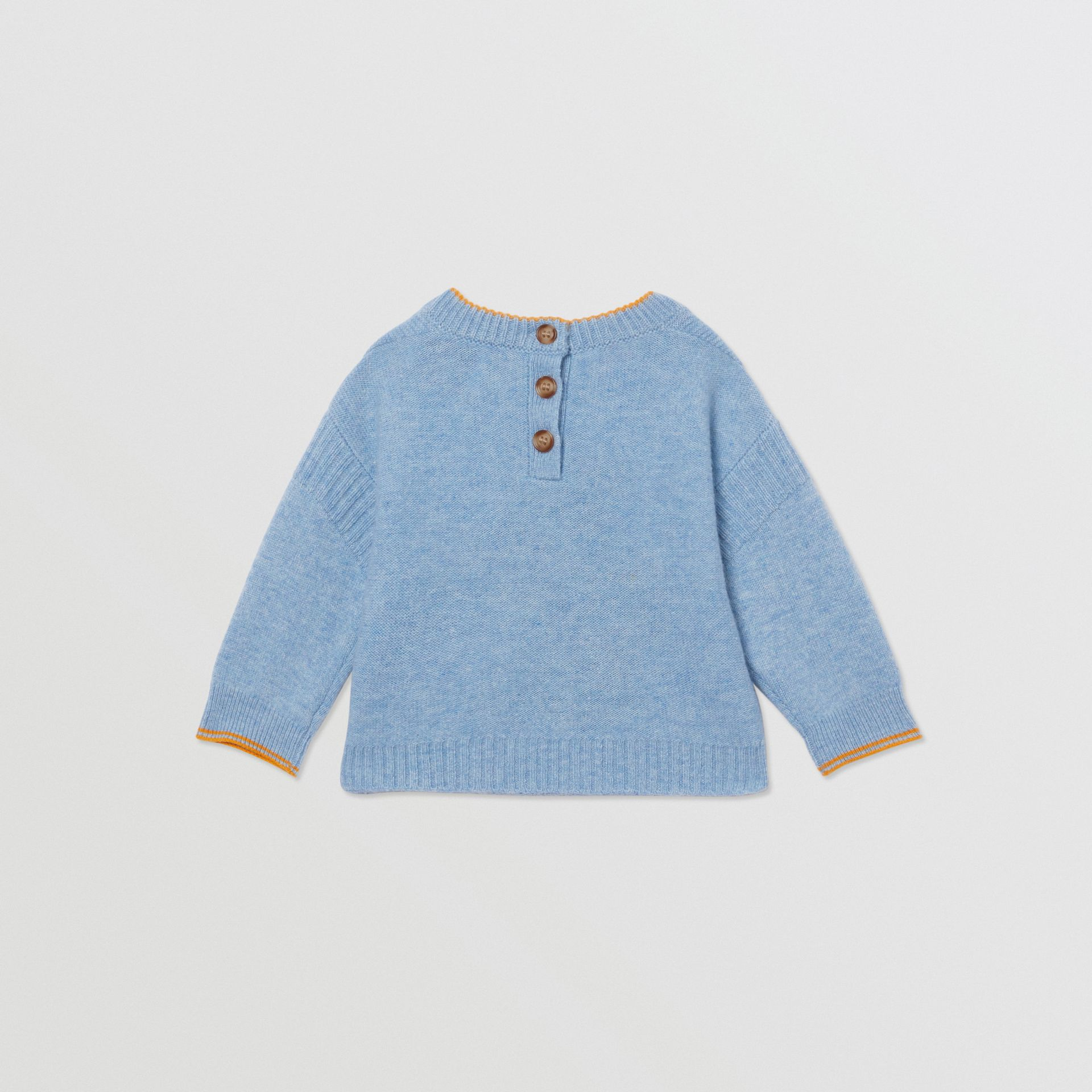 Bear Intarsia Wool Cashmere Two-piece Baby Gift Set in Pale Blue - Children | Burberry United Kingdom - gallery image 4