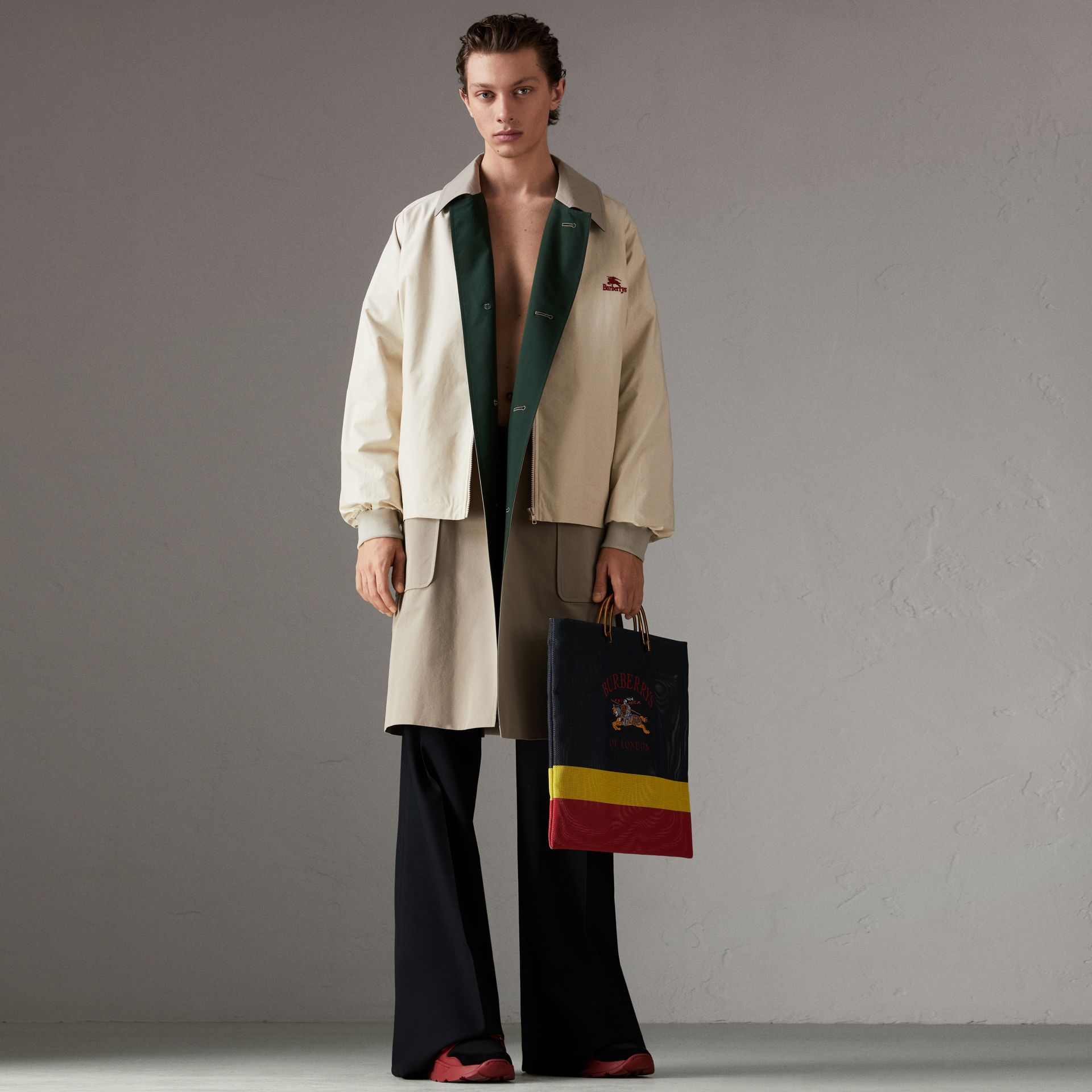 Reissued Waxed Cotton Gabardine Car Coat in Khaki - Men | Burberry Australia - gallery image 0