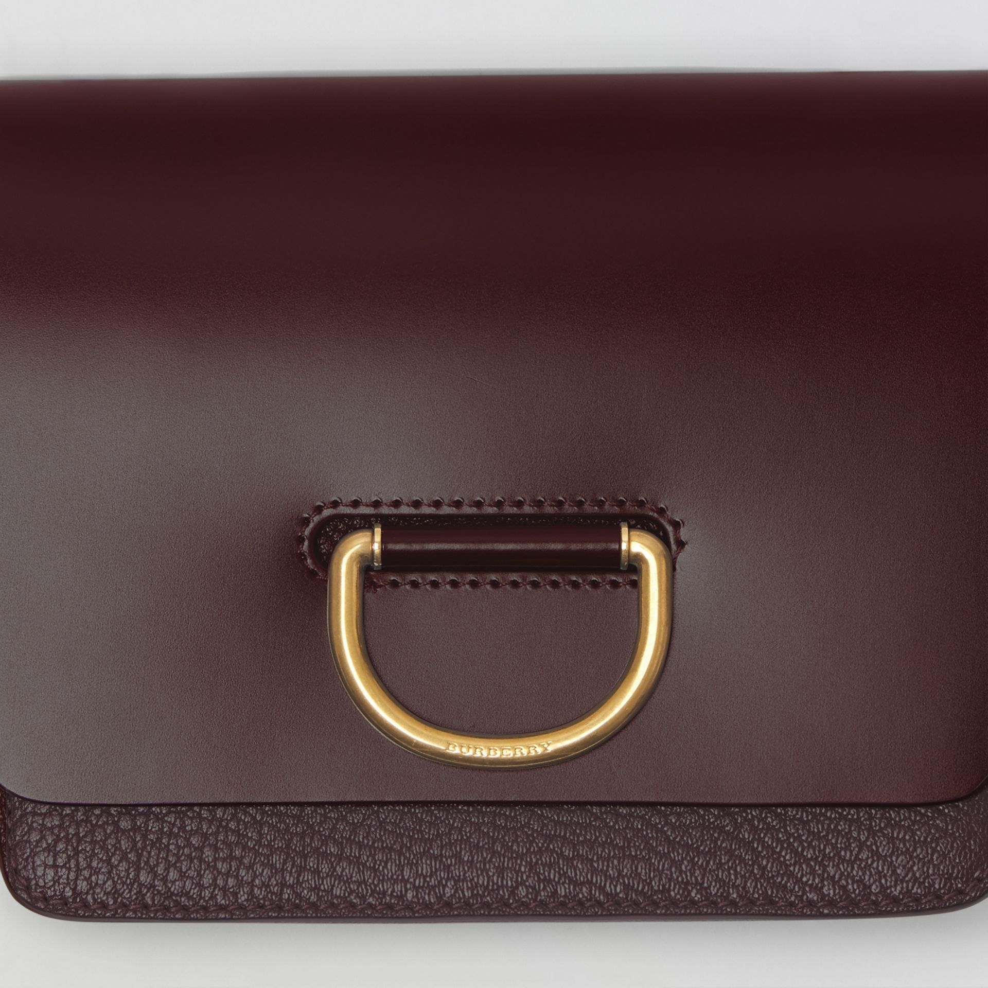 The Small Leather D-ring Bag in Deep Claret - Women | Burberry United Kingdom - gallery image 1