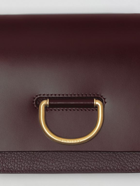 The Small Leather D-ring Bag in Deep Claret - Women | Burberry - cell image 1