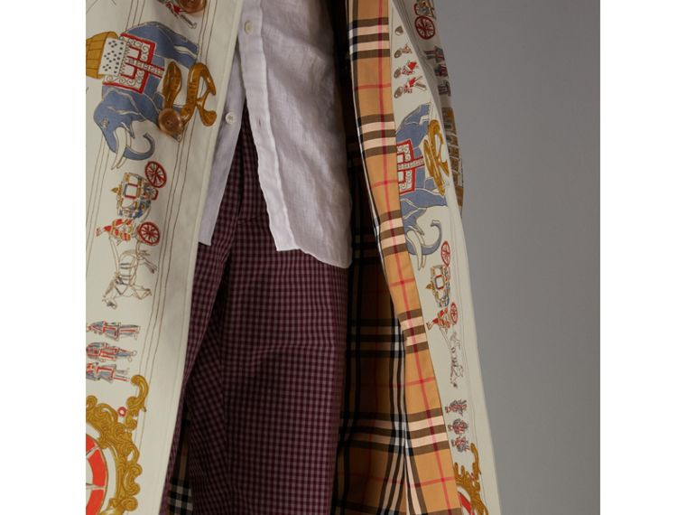 London Sketch Print Car Coat in Stone - Men | Burberry United Kingdom - cell image 1