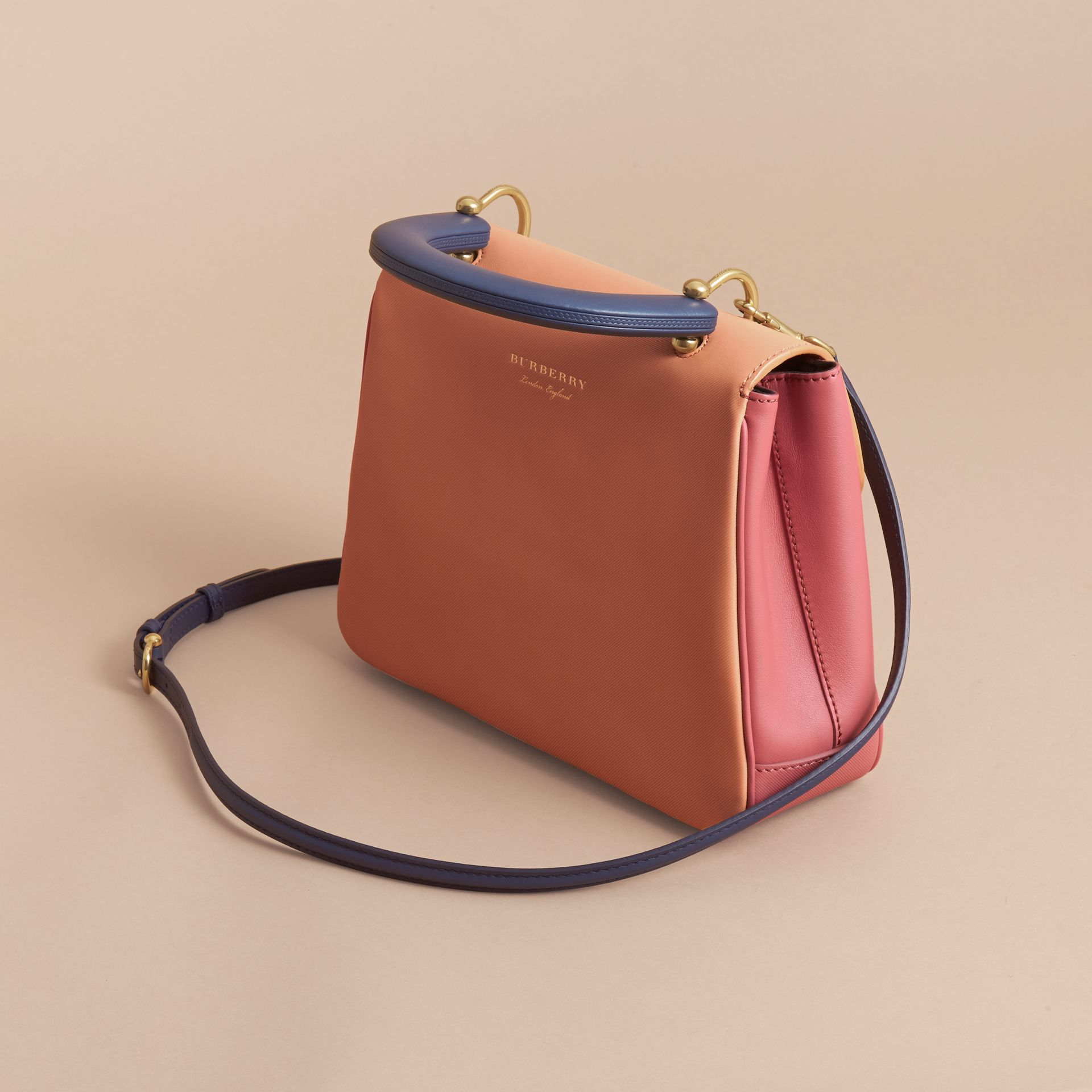 The Medium DK88 Top Handle Bag Blossom Pink/pale Clementine - gallery image 6
