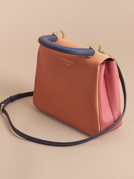 The Medium DK88 Top Handle Bag in Blossom Pink/pale Clementine - cell image 3