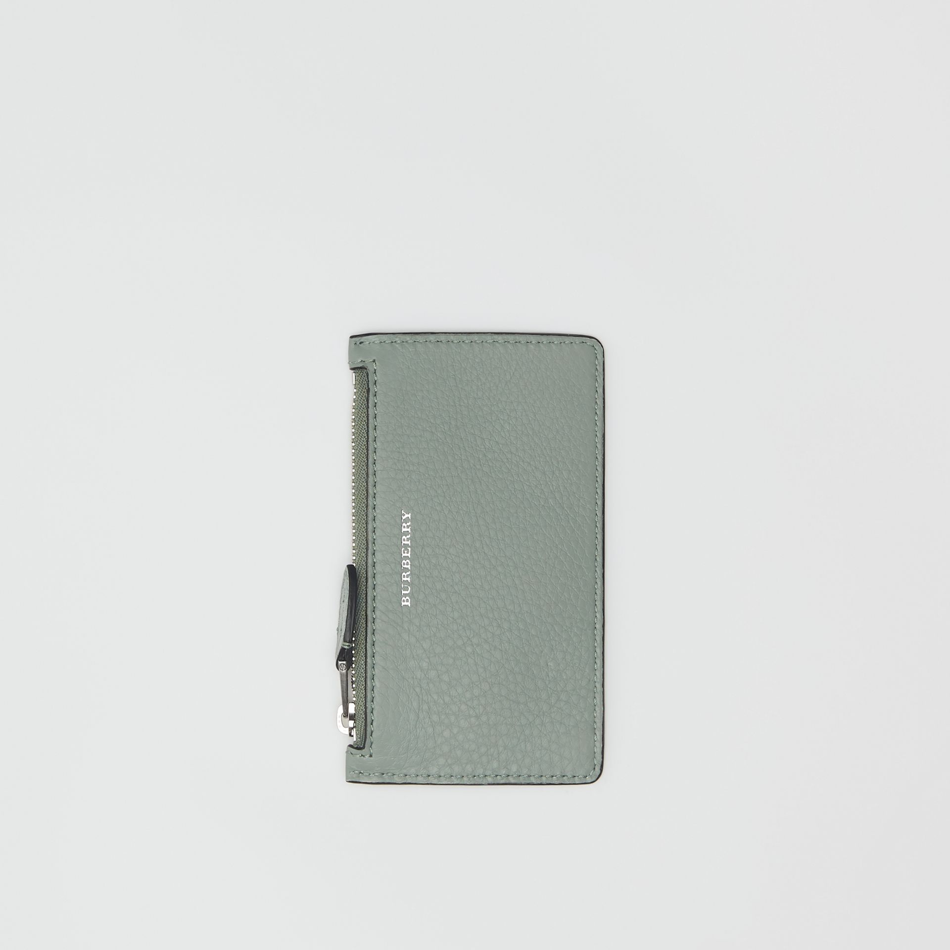 Two-tone Leather Card Case in Grey Blue - Women | Burberry - gallery image 4