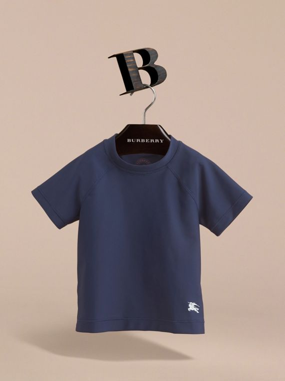 Seam Detail Rash Top in Navy - Boy | Burberry United Kingdom - cell image 2