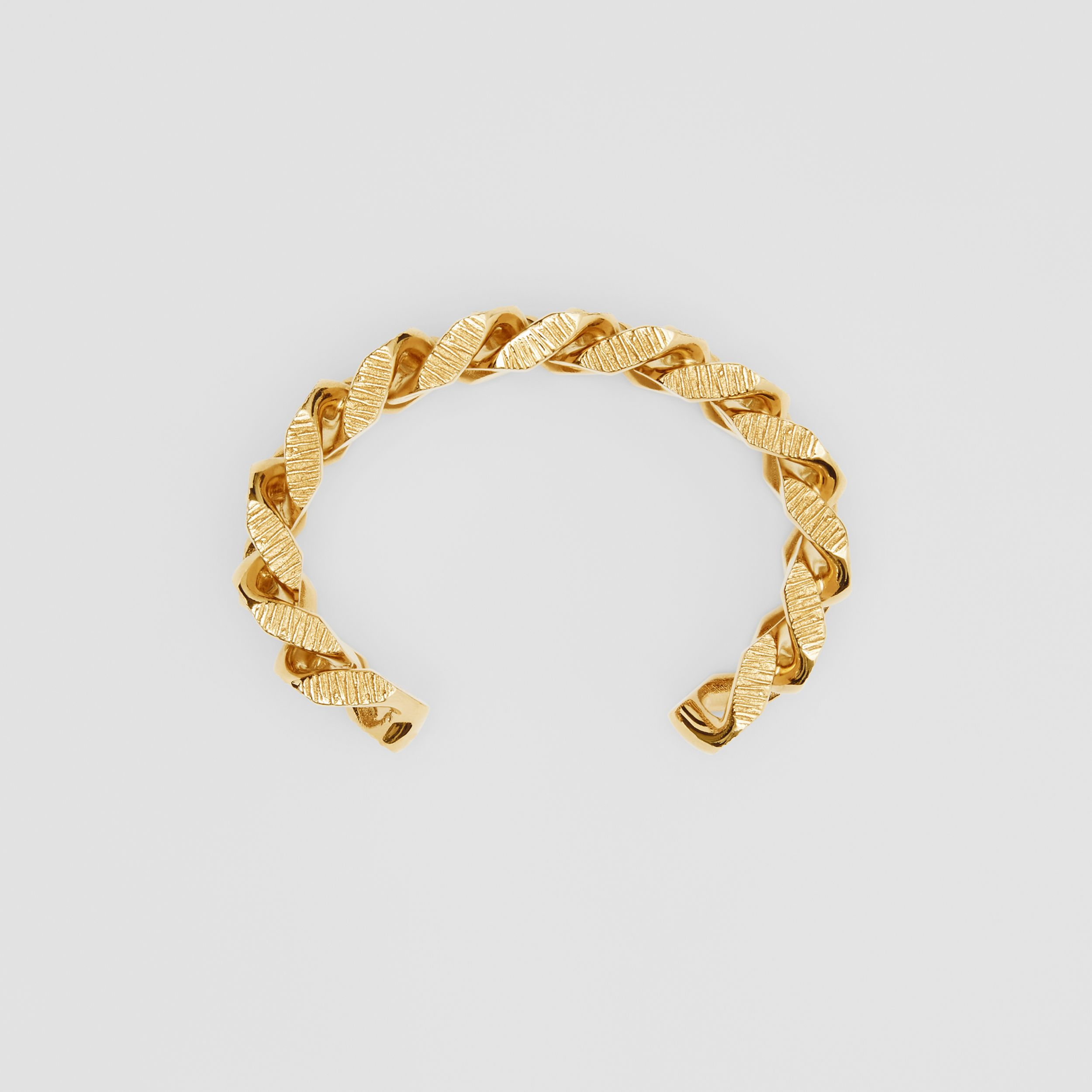 Gold-plated Chain-link Cuff in Light - Women | Burberry - 1