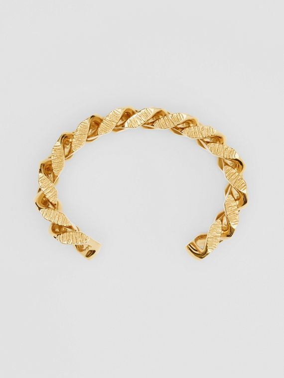 Gold-plated Chain-link Cuff in Light
