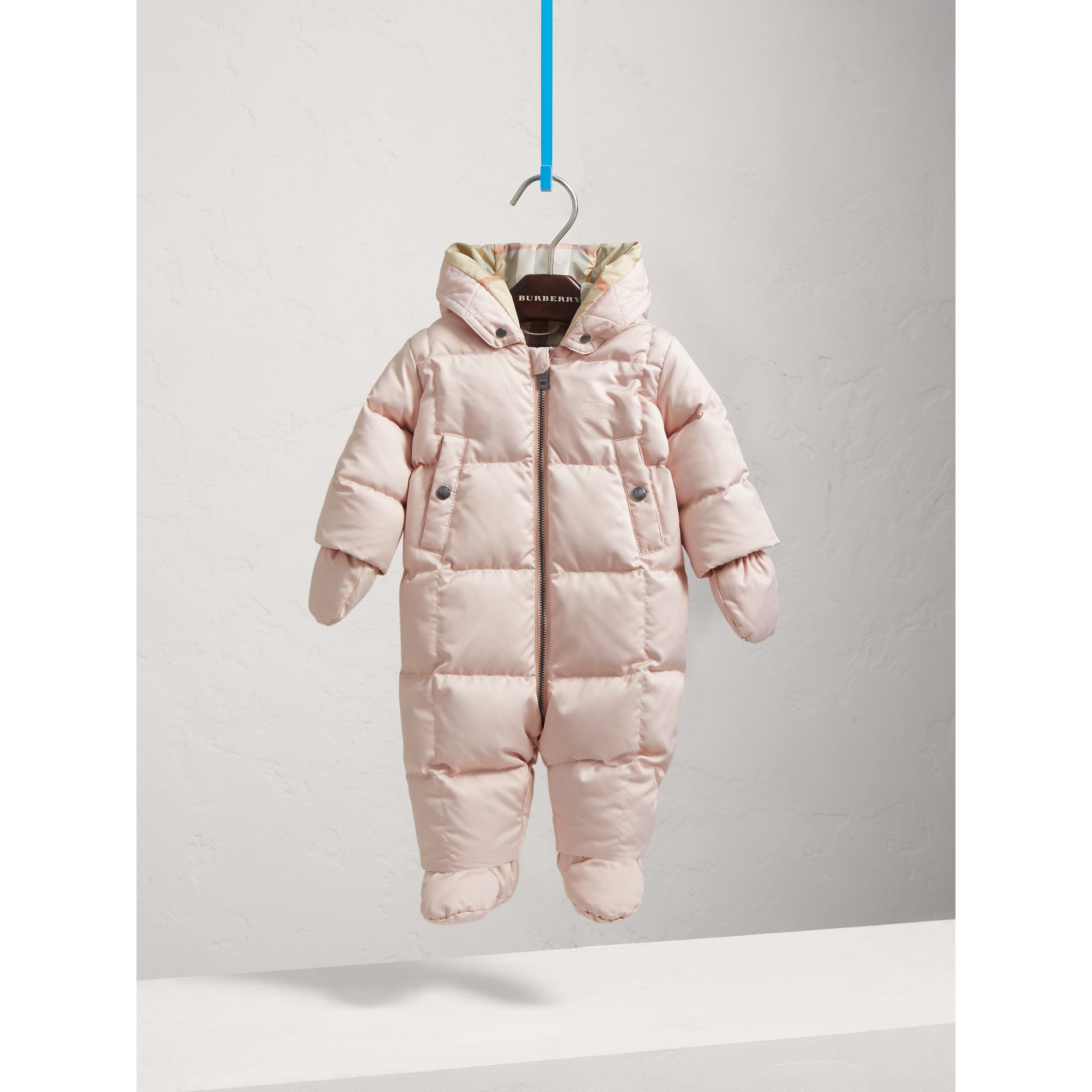 Down-filled Puffer Suit in Powder Pink | Burberry - gallery image 2