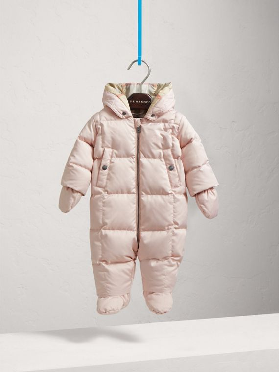 Down-filled Puffer Suit in Powder Pink | Burberry - cell image 2