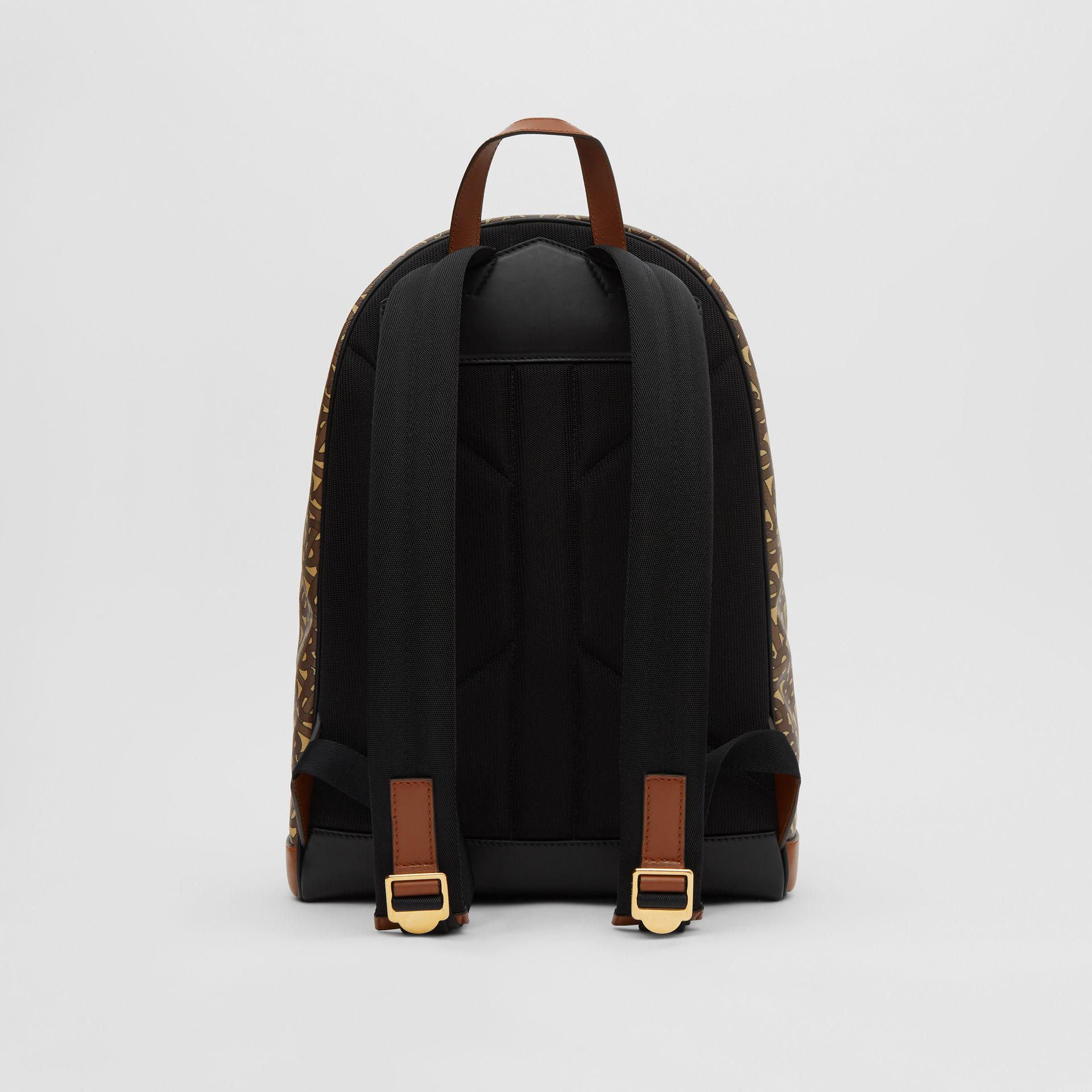 Monogram Print E-canvas and Leather Backpack in Bridle Brown - Men | Burberry - gallery image 9