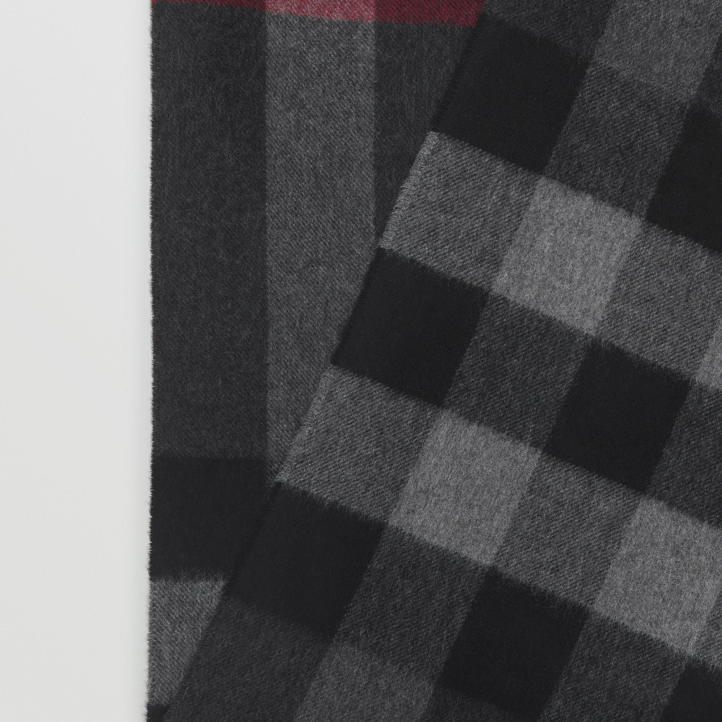 Check Cashmere Scarf in Charcoal | Burberry - 2