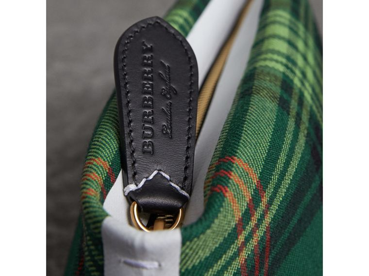 Tartan Cotton Clutch in Pine Green/blue | Burberry Australia - cell image 1