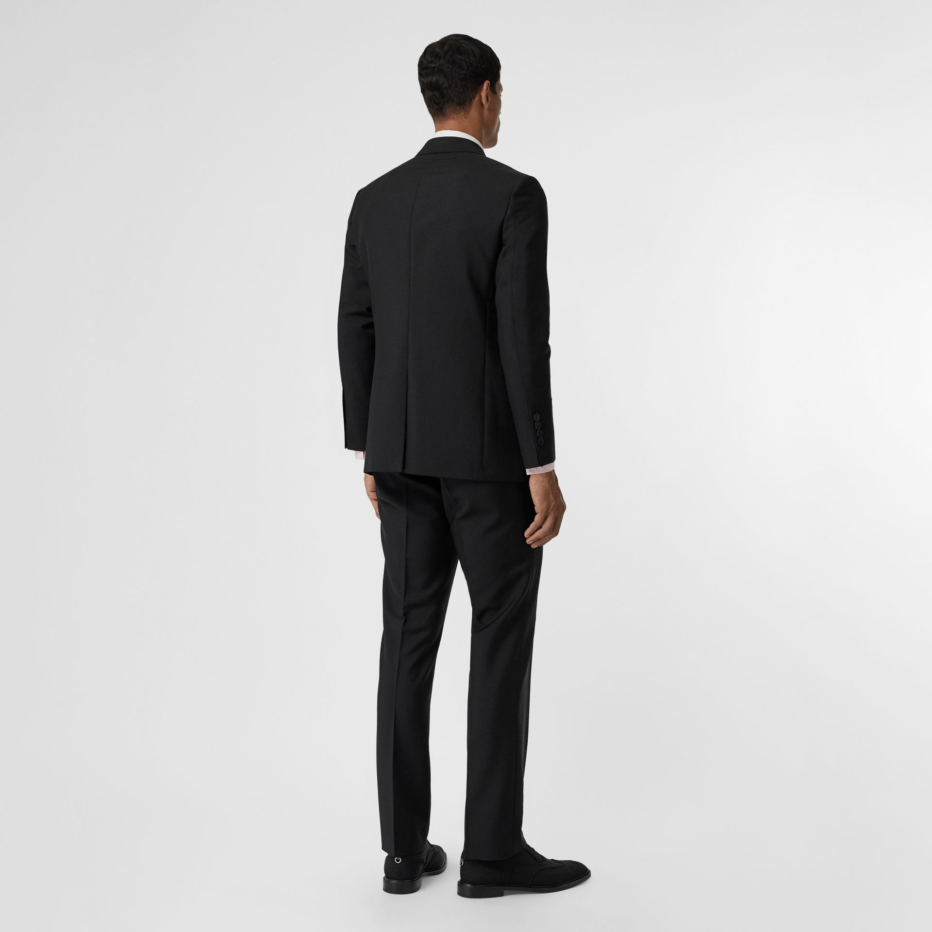 Slim Fit Wool Mohair Suit in Black - Men | Burberry Canada - gallery image 2