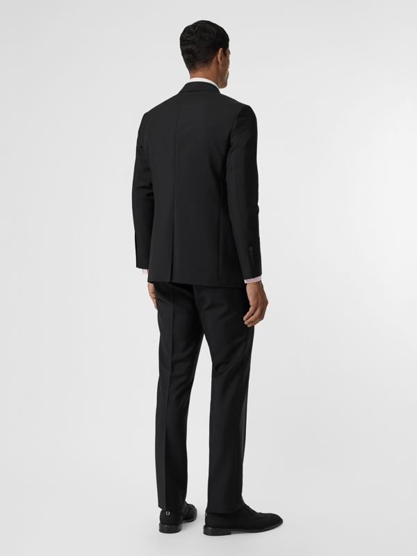 Slim Fit Wool Mohair Suit in Black - Men | Burberry Canada - cell image 2
