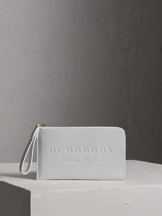 Дорожный бумажник из тисненой кожи (Белый Мел)