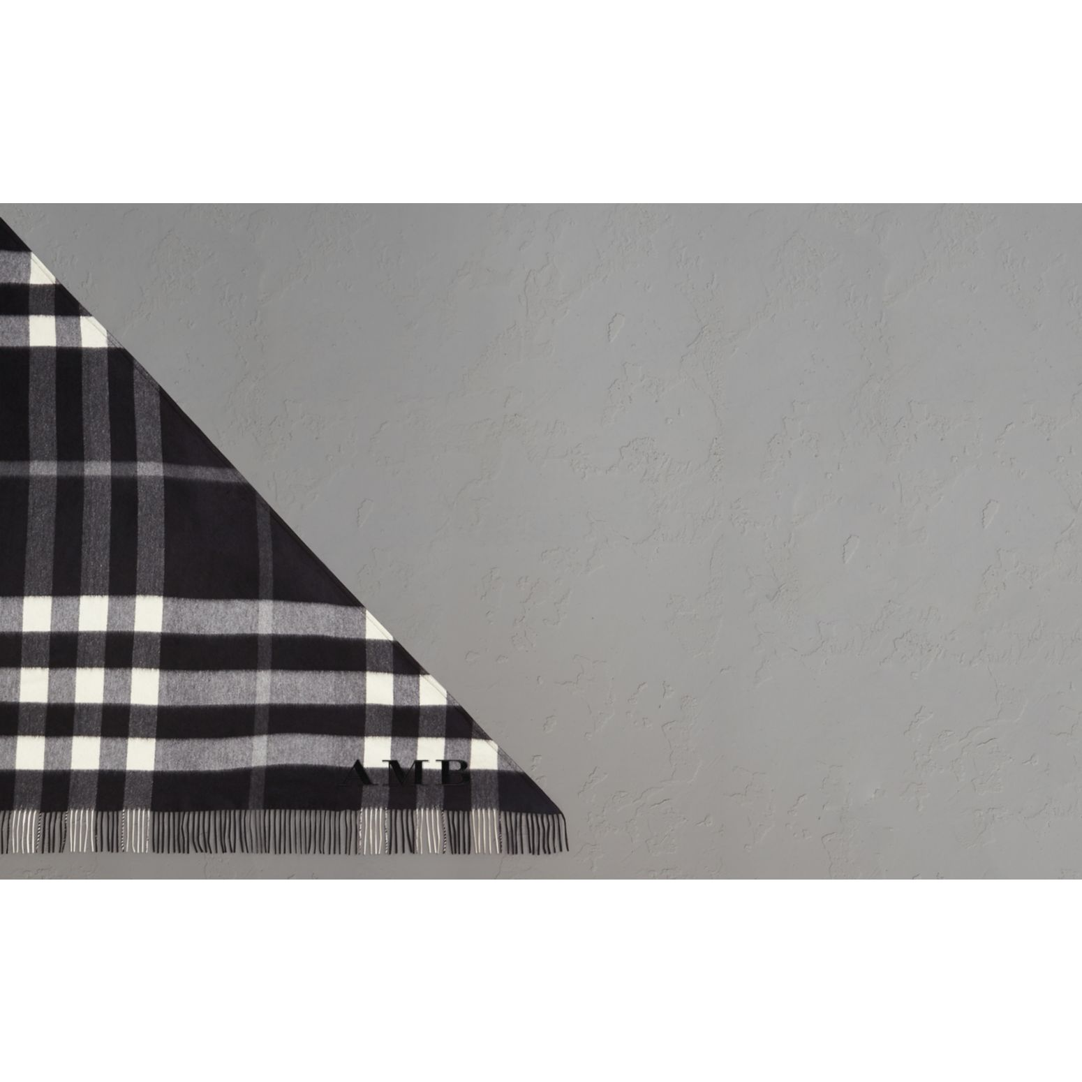 The Burberry Bandana in Check Cashmere in Black | Burberry Hong Kong - gallery image 1