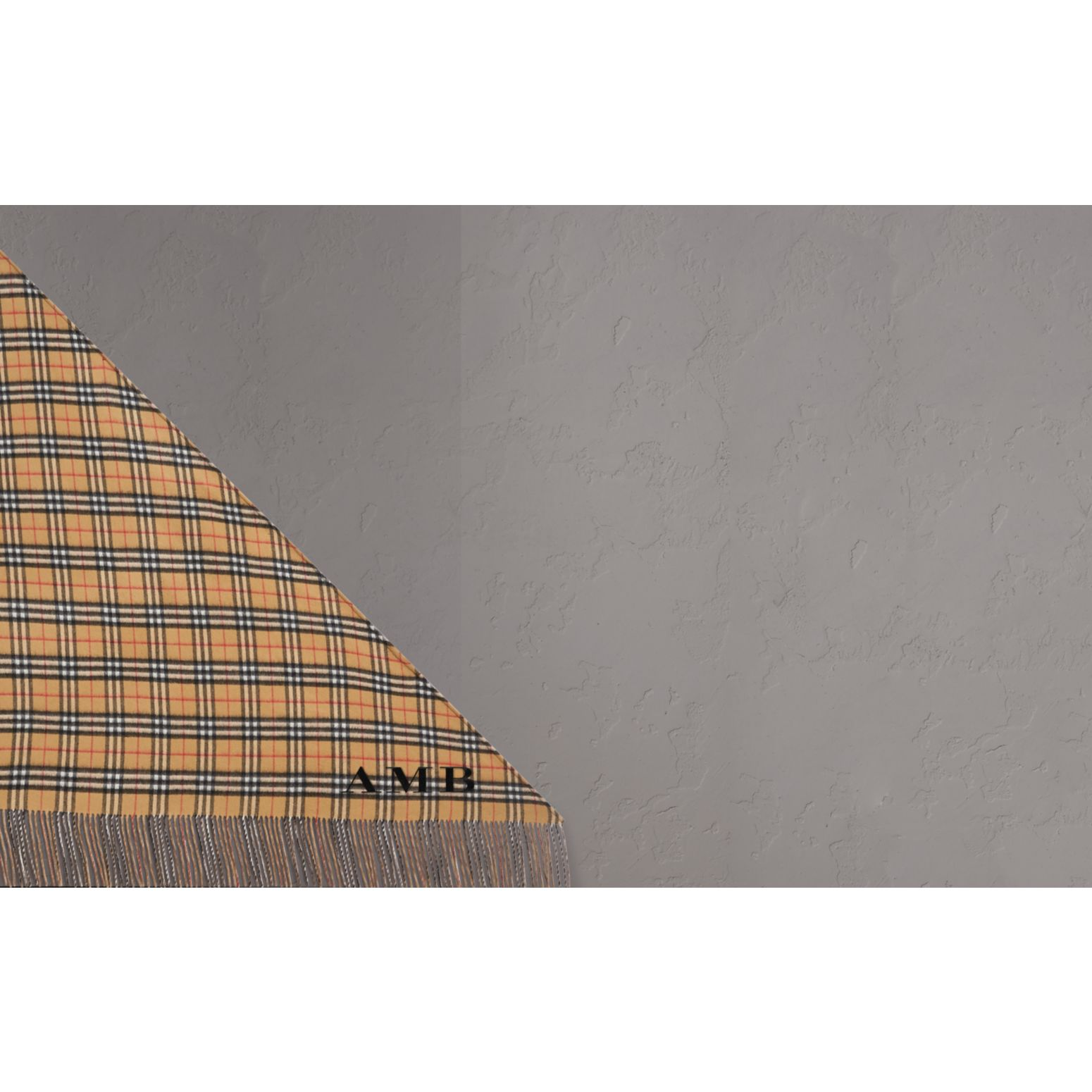 The Burberry Bandana in Vintage Check Cashmere in Sandstone | Burberry - gallery image 1