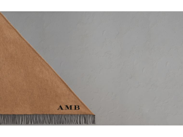 The Burberry Bandana in Cashmere in Camel/black | Burberry United Kingdom - cell image 1