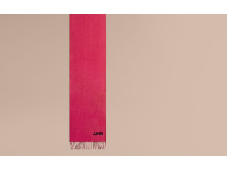 The Classic Cashmere Scarf in Fuchsia Pink - cell image 1