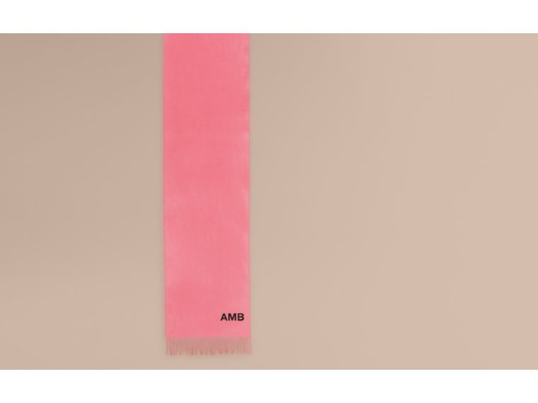 The Classic Cashmere Scarf in Rose Pink - cell image 1