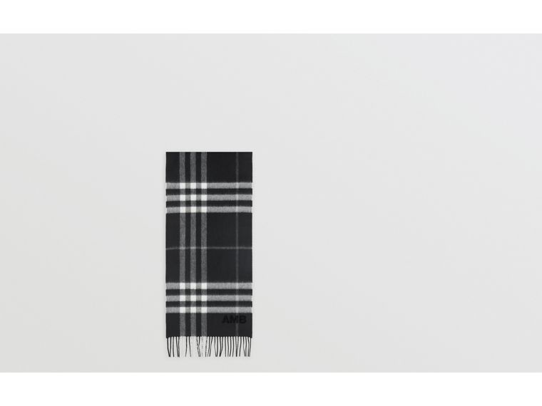 The Classic Check Cashmere Scarf in Black | Burberry Singapore - cell image 1