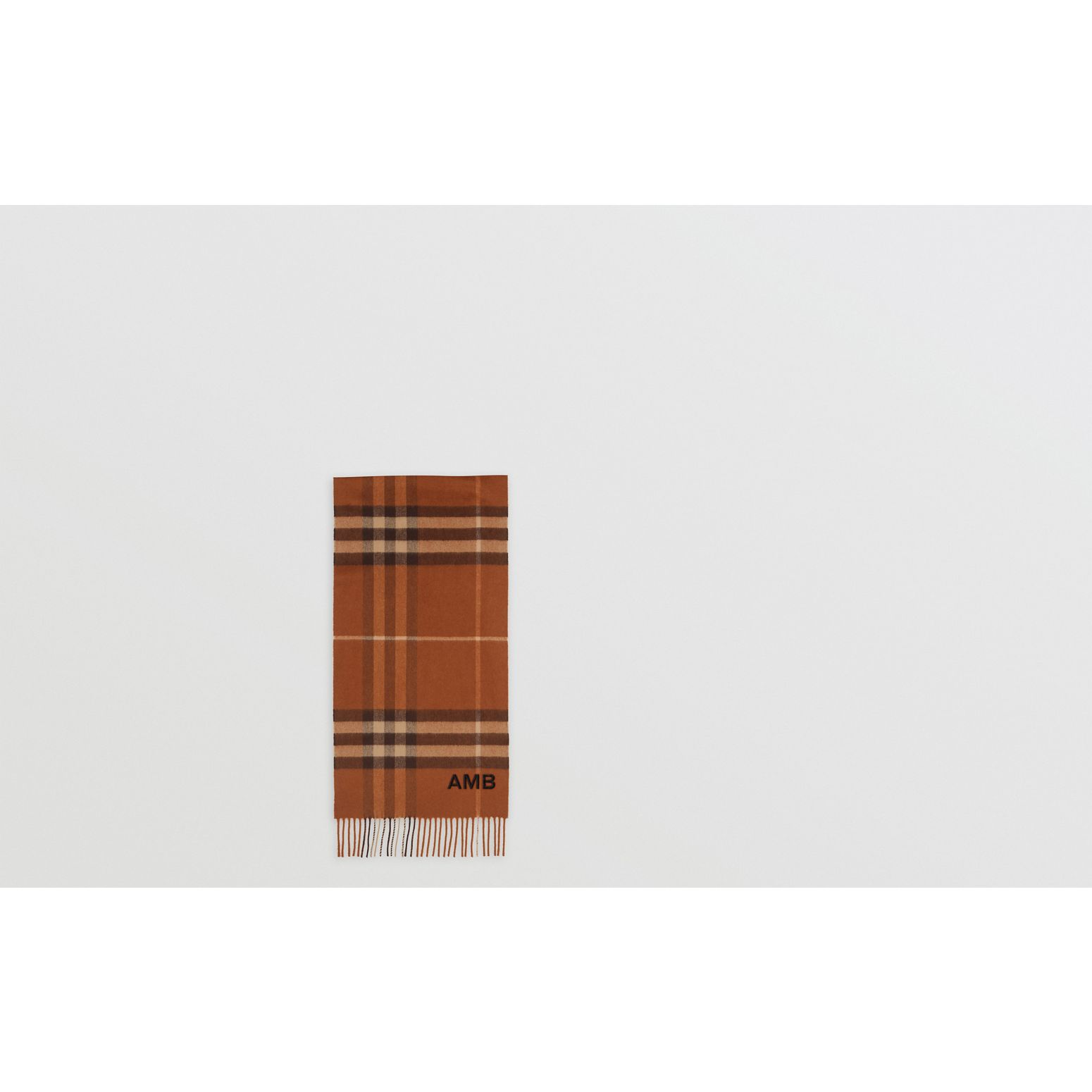 The Classic Check Cashmere Scarf in Chestnut | Burberry Canada - gallery image 1
