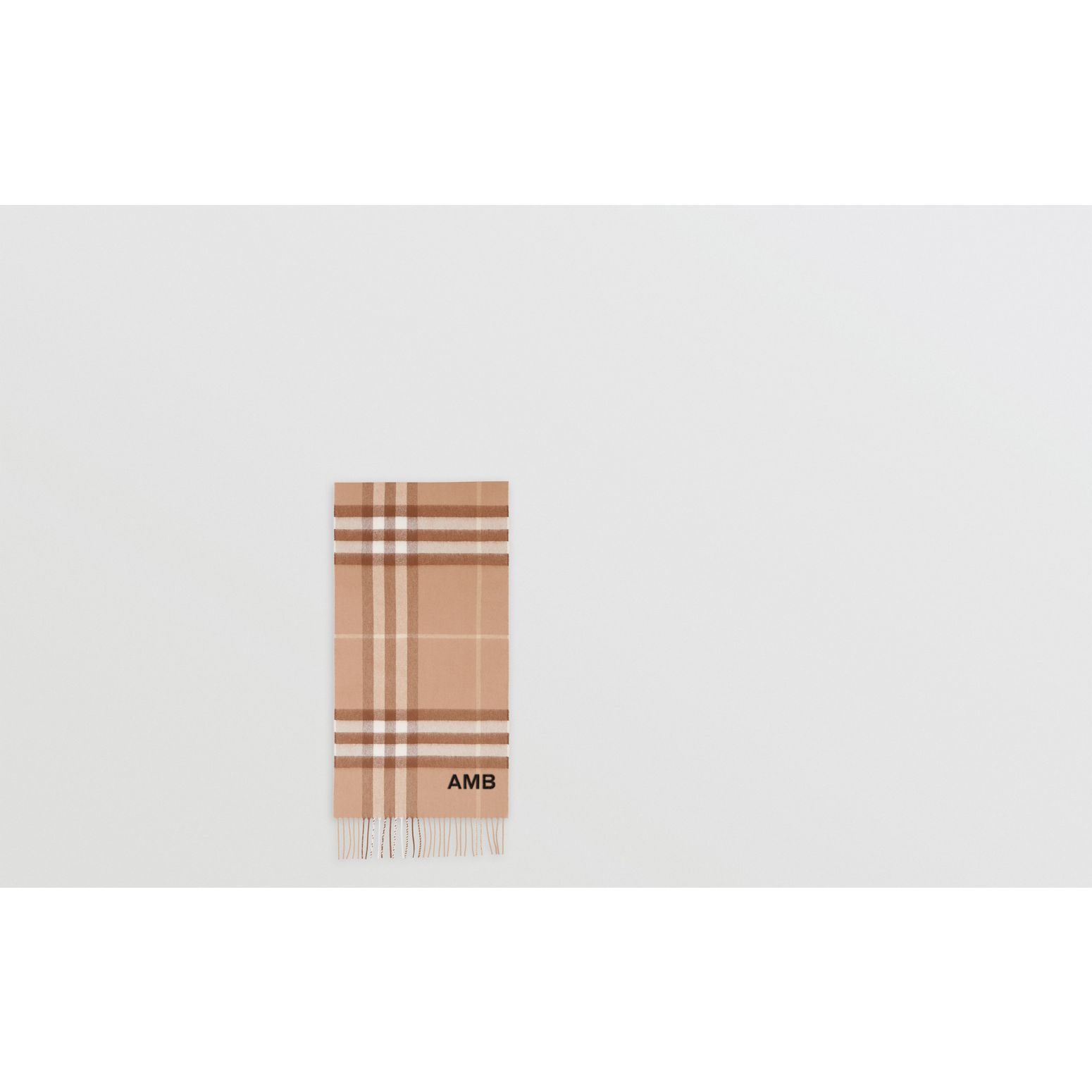The Classic Check Cashmere Scarf in Mid Camel | Burberry Hong Kong S.A.R - gallery image 1