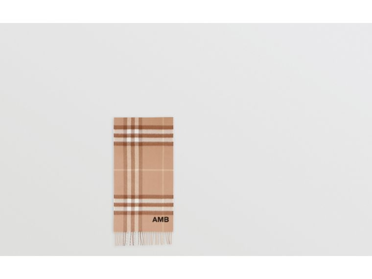 The Classic Check Cashmere Scarf in Mid Camel | Burberry Hong Kong S.A.R - cell image 1