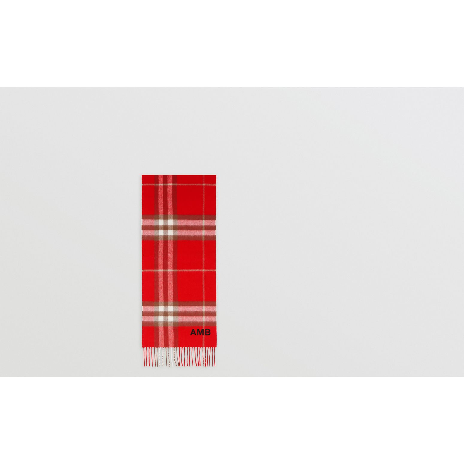 The Classic Check Cashmere Scarf in Red | Burberry Hong Kong S.A.R - gallery image 1