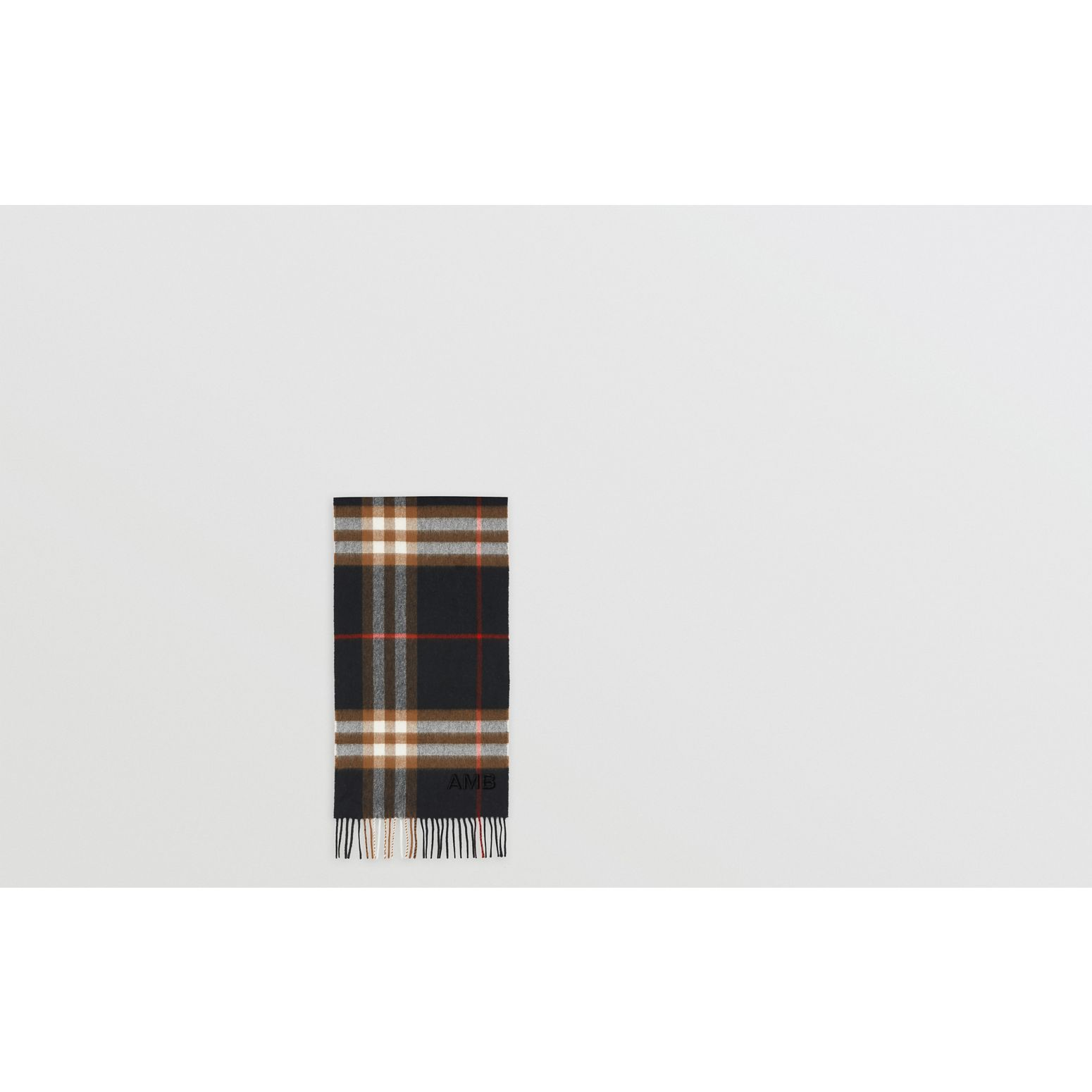 The Classic Check Cashmere Scarf in Black/brown | Burberry Canada - gallery image 1