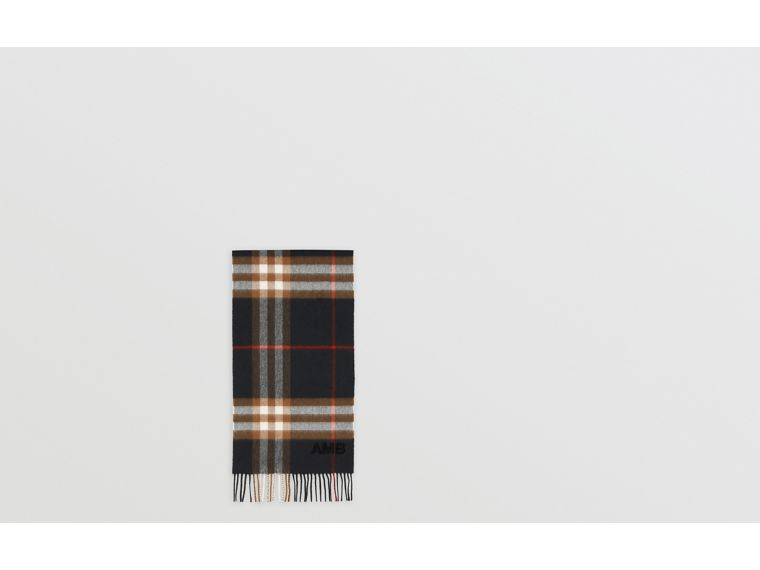 The Classic Check Cashmere Scarf in Black/brown | Burberry - cell image 1