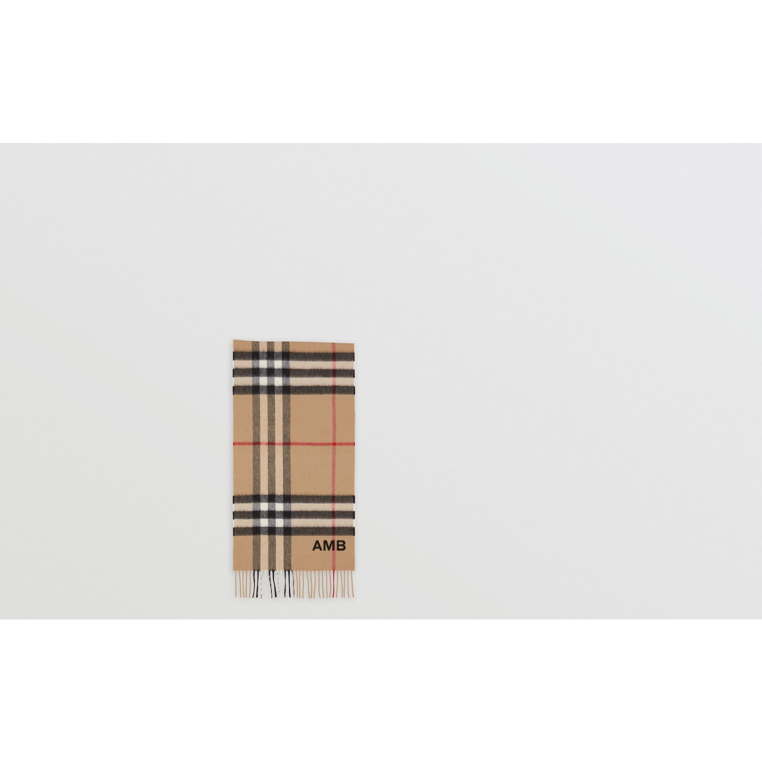 The Classic Check Cashmere Scarf in Archive Beige | Burberry United Kingdom - gallery image 1