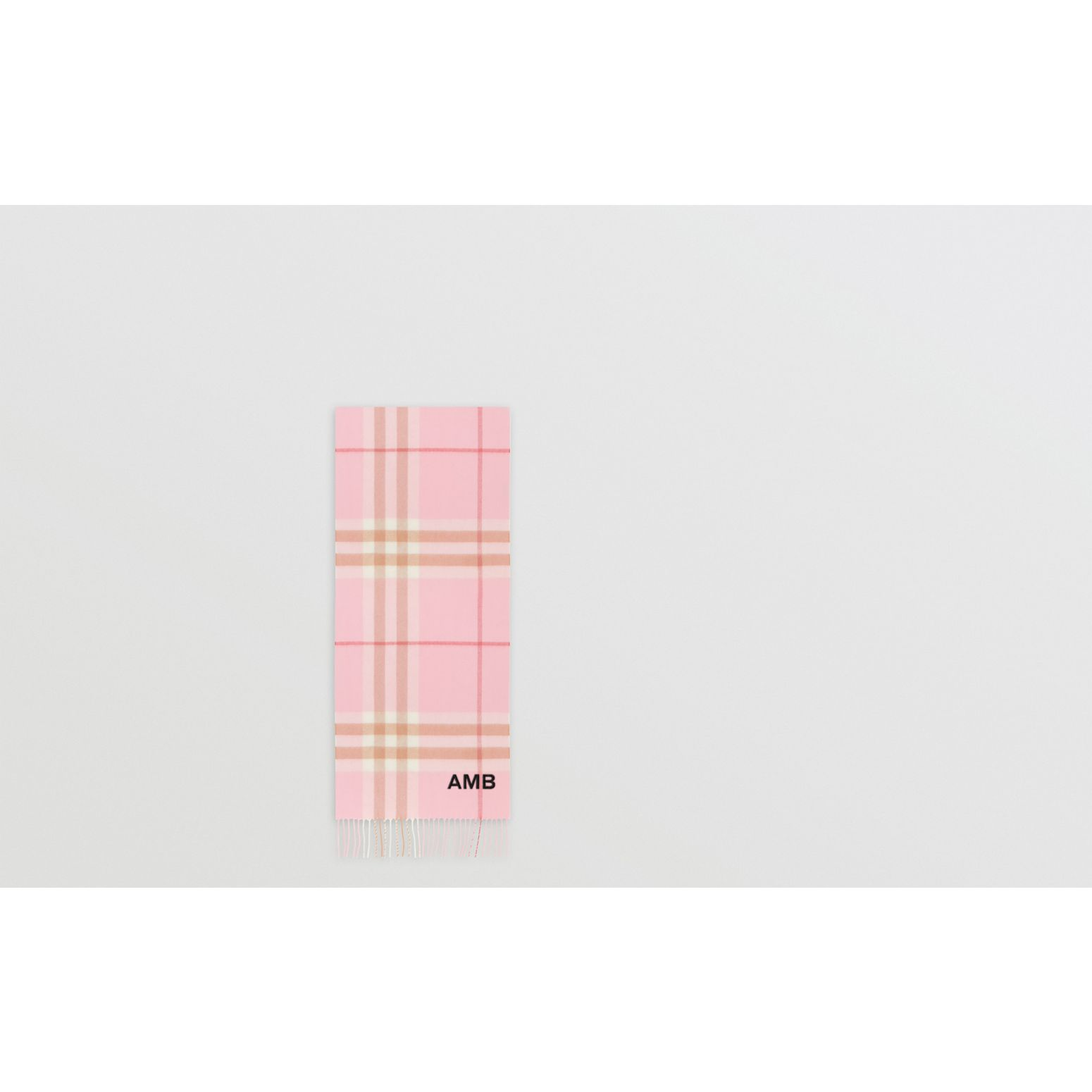 The Classic Check Cashmere Scarf in Candy Pink | Burberry - gallery image 1
