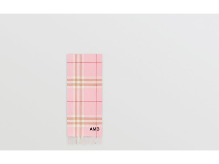 The Classic Check Cashmere Scarf in Candy Pink | Burberry - cell image 1