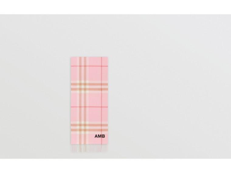 經典格紋喀什米爾圍巾 (糖果粉紅) | Burberry - cell image 1