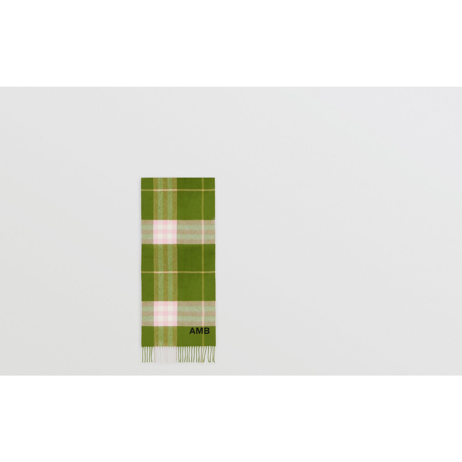 The Classic Check Cashmere Scarf in Cedar Green | Burberry - gallery image 1