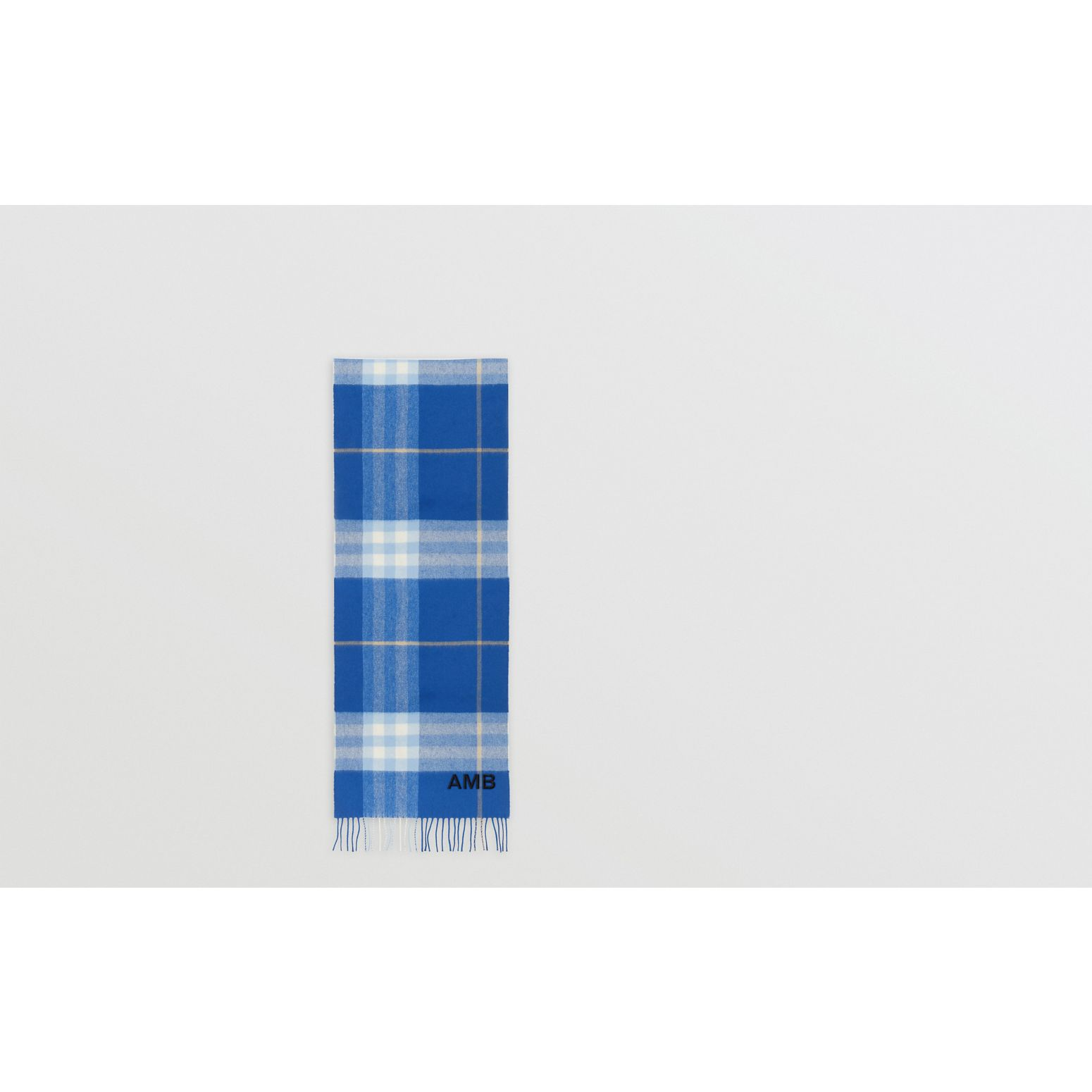 The Classic Check Cashmere Scarf in Inky Blue/bluebell | Burberry United Kingdom - gallery image 1