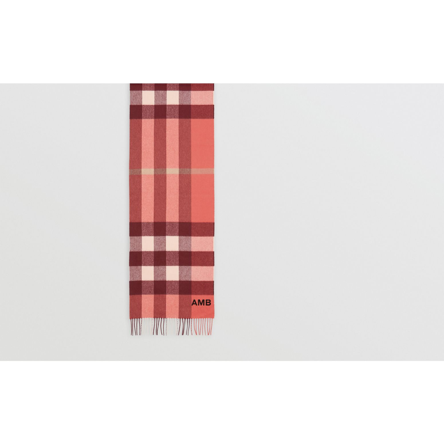 Check Cashmere Scarf in Clay Sienna | Burberry - gallery image 1