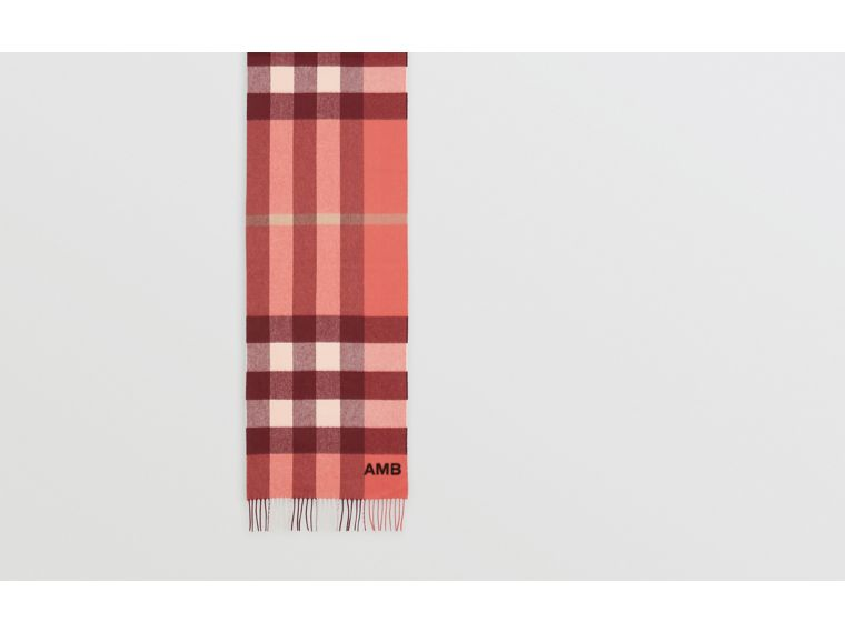 Check Cashmere Scarf in Clay Sienna | Burberry - cell image 1