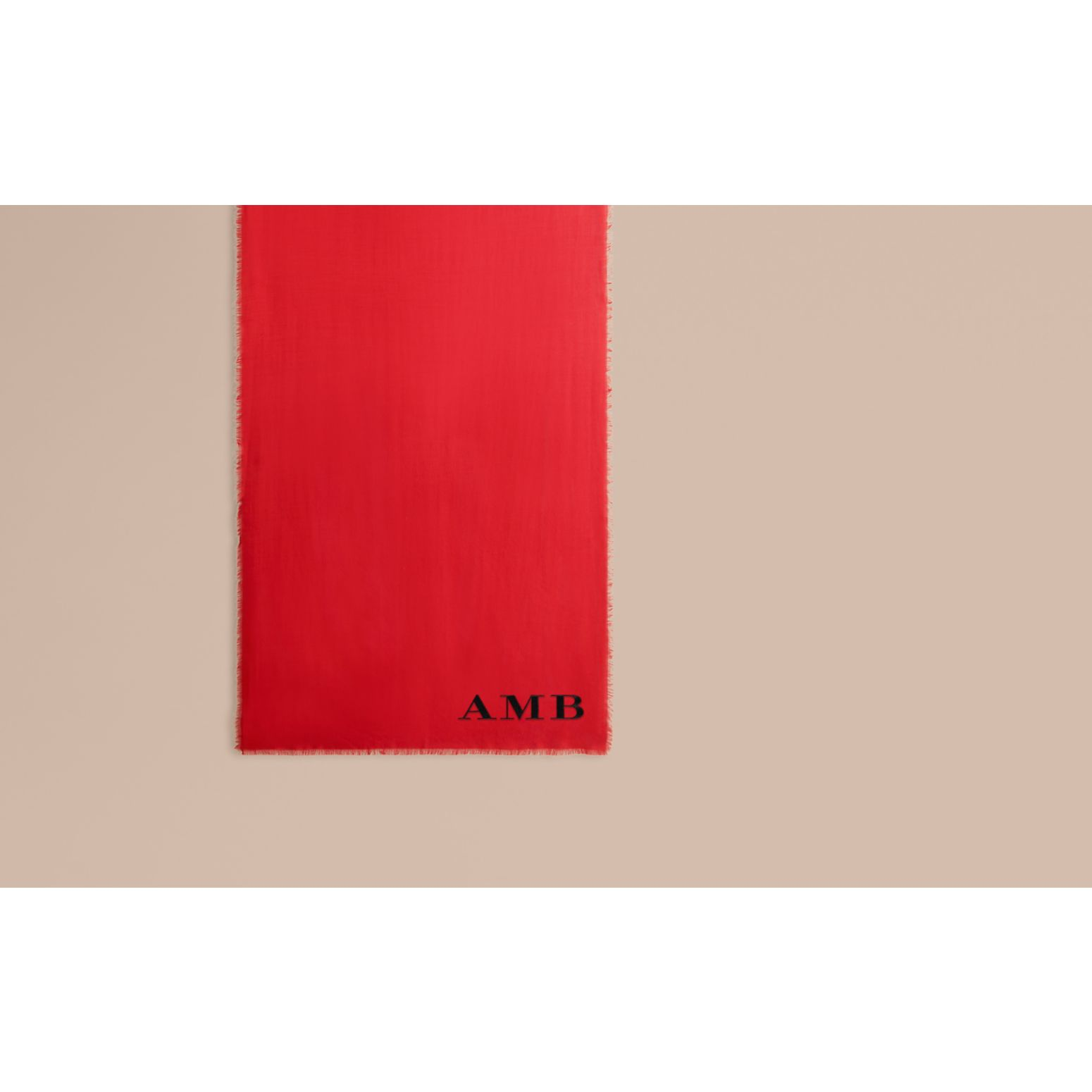 The Lightweight Cashmere Scarf in Parade Red - gallery image 2