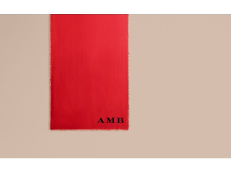 The Lightweight Cashmere Scarf in Parade Red - cell image 1