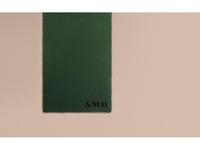 Verde foresta scuro Sciarpa leggera in cashmere Verde Foresta Scuro - cell image 1