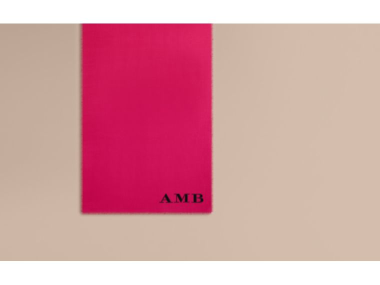 The Lightweight Cashmere Scarf in Fuchsia Pink - cell image 1
