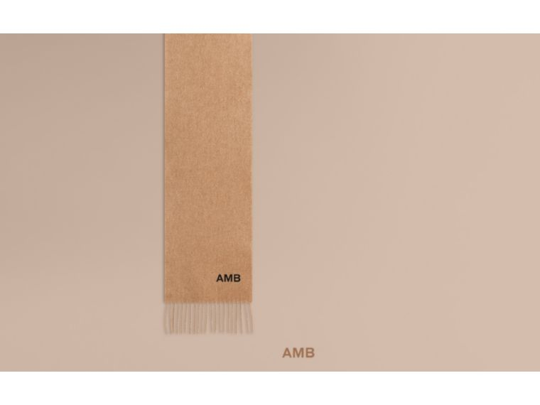 The Mini Classic Cashmere Scarf in Camel - cell image 1