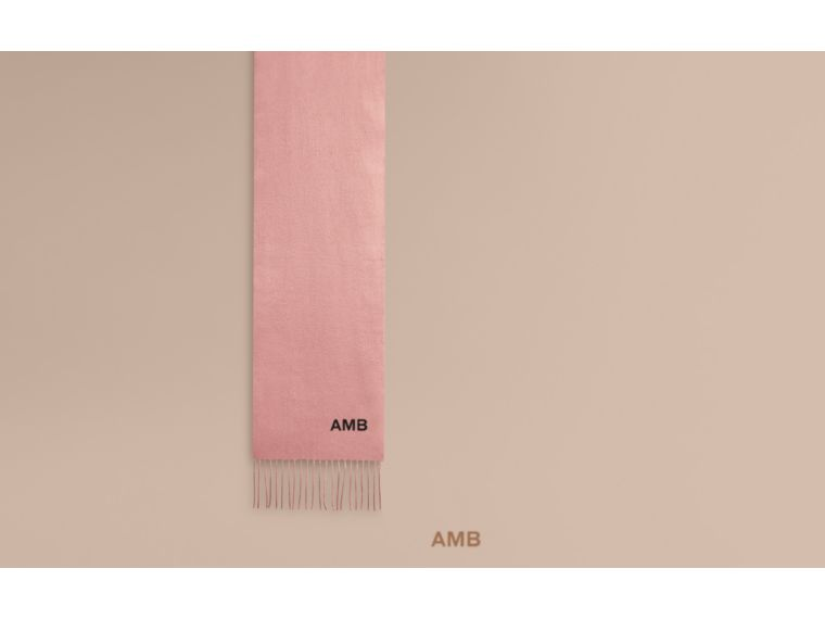 The Mini Classic Cashmere Scarf in Ash Rose - cell image 1